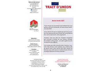 Trait d'Union n°2 – Janvier 2021